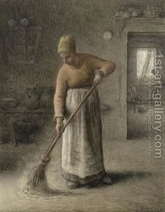 A-Farmers-Wife-Sweeping,-1867 Millet
