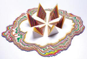 escultura em papel