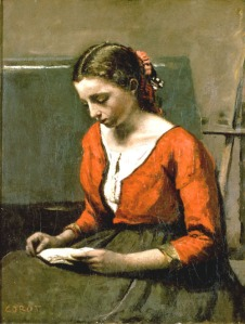 Camille Corot [Jean Baptiste], a girl reading