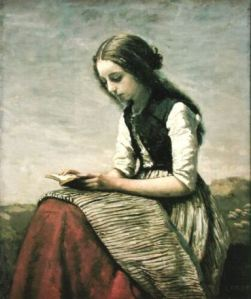 Camille Corot [Jean Baptiste], woman reading 05
