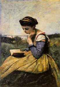 Camille Corot [Jean Baptiste], Woman reading