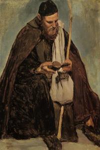 17 Italian Monk Reading, 1826-1828, Jean-Baptiste-Camille Corot.