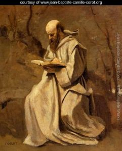 17 Monk-in-White,-Seated,-Reading