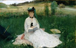 Berthe Morisot, reading
