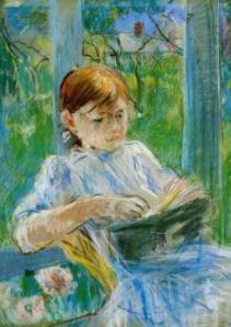 Morisot_Portrait of the Artist's Daughter, Julie Manet, at Gorey 1886