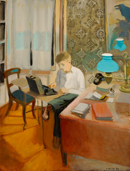 39 Fairfield Porter_ Laurence Typing_ 1952