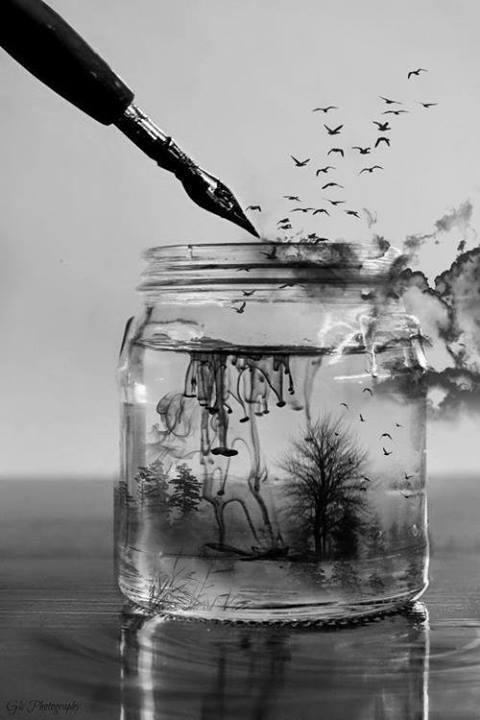 agua e tinta