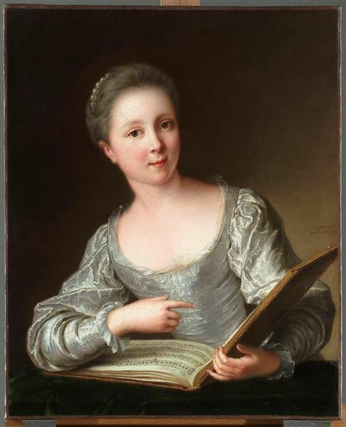 108 Portrait de Jeune Femme by Jean-Marc Nattier