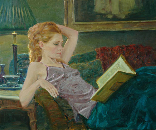 "132 ""Special book"" painting by David Hettinger"