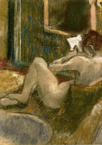 192 Edgar Degas - Nude from the Rear, Reading (c. 1880-1885)