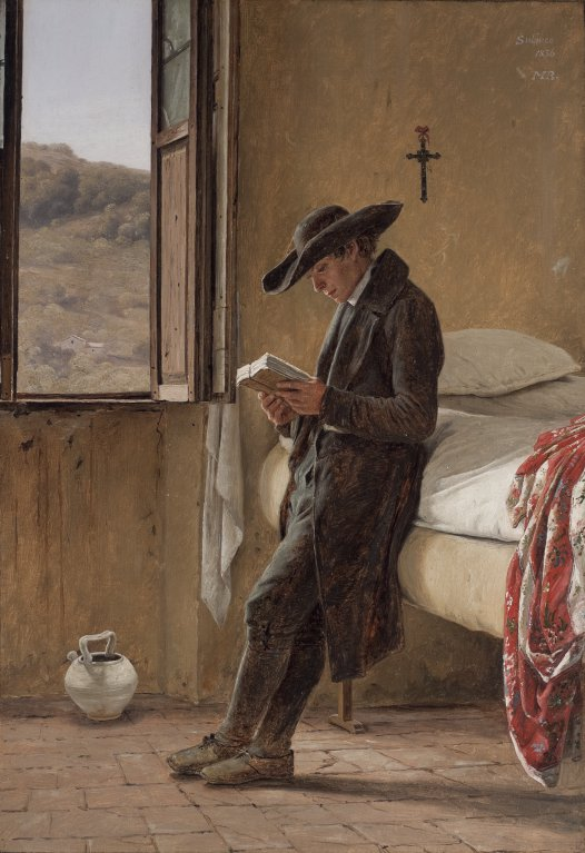 214 Young Clergyman Reading 1836 Martin Rorbye