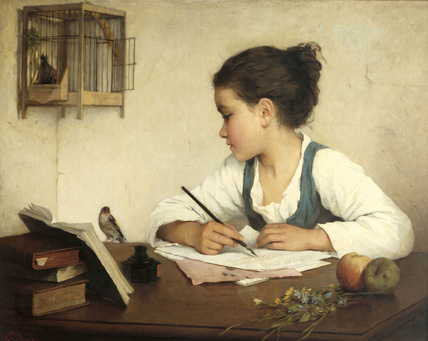 12 Henriette Browne_ A Girl Writing