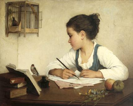 12 Henriette Browne_ A Girl Writing
