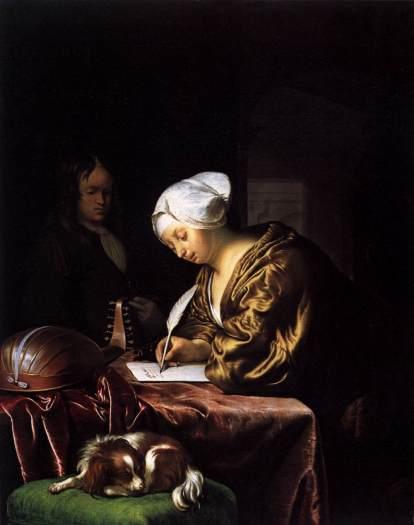 17 Woman writing a letter_Frans Van Mieris