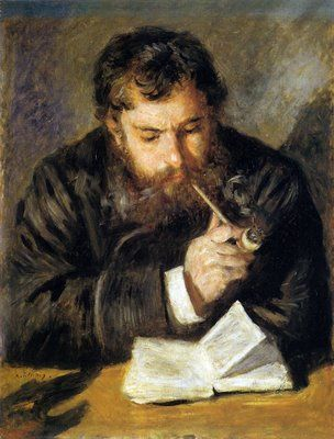 236 Renoir_Claude Monet reading