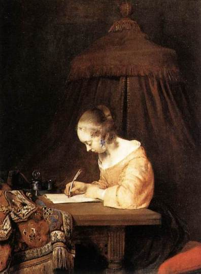woman writing a letter_Gerard Terborch 1655