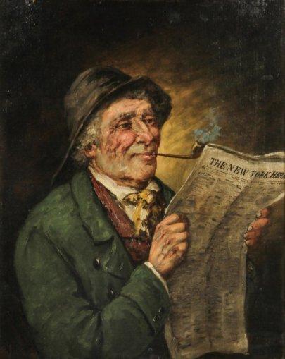 Man reading_A Falke