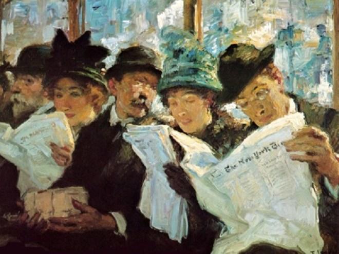 1912 Francis Luis Mora (Uruguayan-born American Painter, 1874-1940)  Morning News