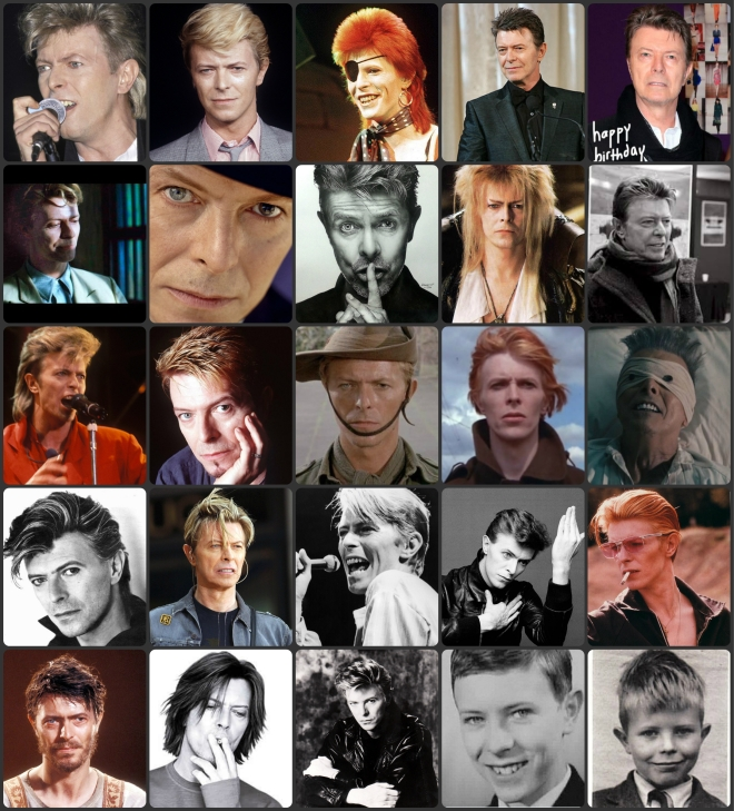 Collage bowie