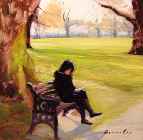 girl_reading_in_london_park_by Susan Cox