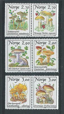 Norway mushrooms post stamps
