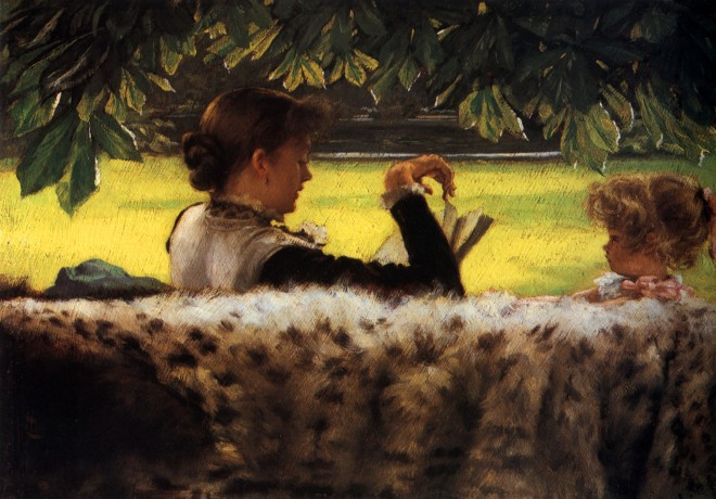 reading-a-story by James Tissot