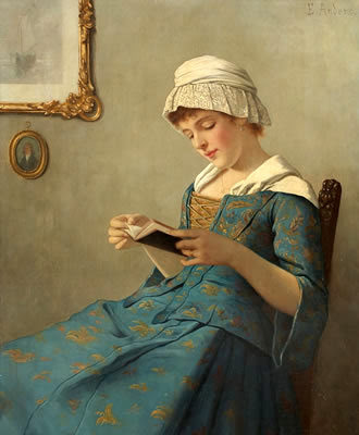 270 Anders, Ernst (1845-1911) Young woman reading