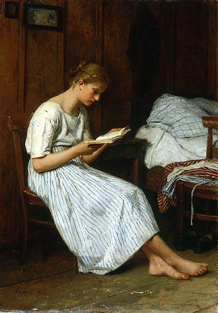 Albert Anker_A Gotthelf Reader_1884