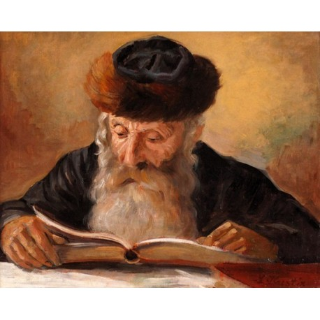 rabbi-reading-by-lazar-krestin--jewish-art-oil-painting-gallery