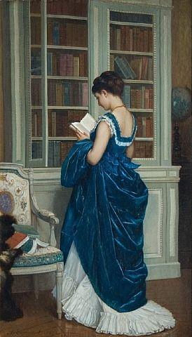 285 Dans la Bibliotheque_1872 by Auguste Toumouche