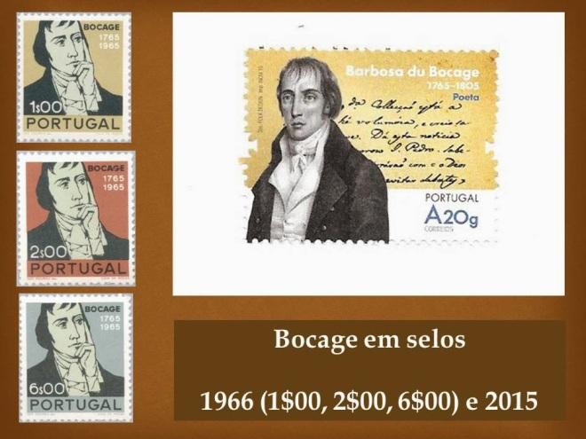 Bocage em selos - 1966 e 2015