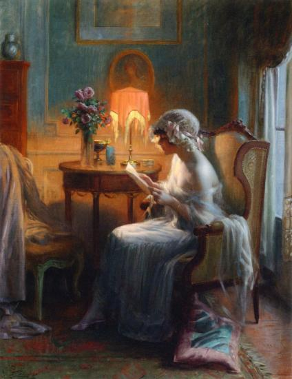 Delphin Enjolras_reading a letter