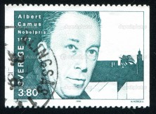 SWEDEN - CIRCA 1990: stamp printed by Sweden, shows Albert Camus, circa 1990