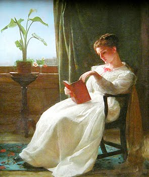 Georges Cochran Lambdin_ Girl reading