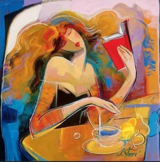 Irene Sheri Poetry Reading Painting