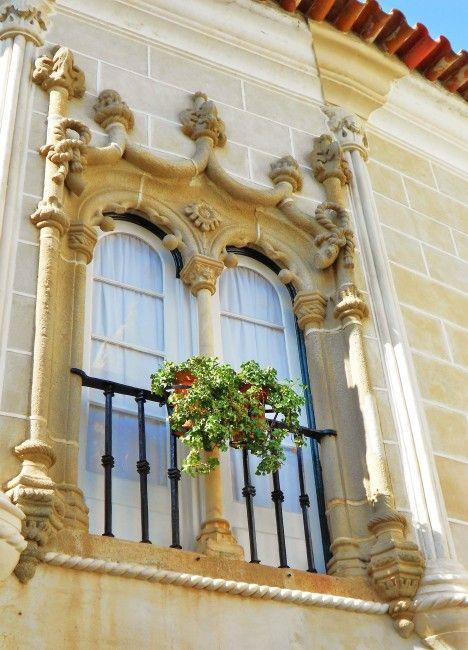 janela manuelina em Evora