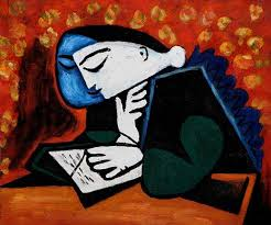 girl-reading-paintig-picasso