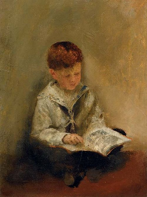 thomas-benjamin-kennington-boy-reading