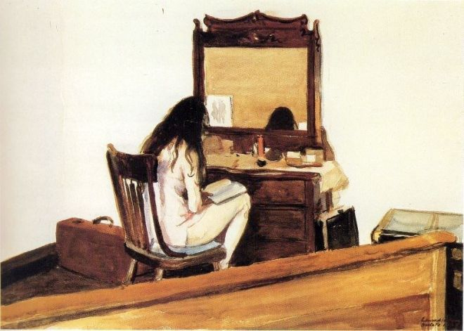 interior-model-reading-by-edward-hopper
