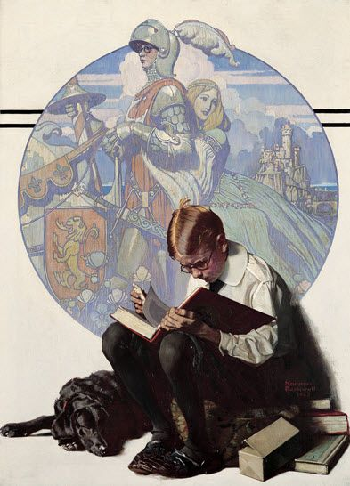 norman-rockwell-_boy-reading-adventure-story